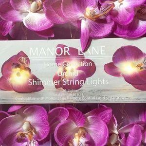 Purple Orchid Flower Shimmer String Wedding Lights